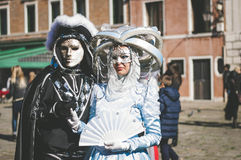 Couple of masks in Venice Stock Image