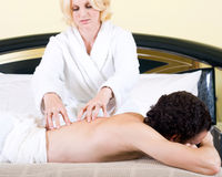 Couple massage Stock Image