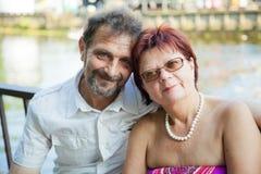 couple mature smiling Στοκ Εικόνα