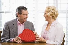 couple mature valentine Στοκ εικόνες με δικαίωμα ελεύθερης χρήσης