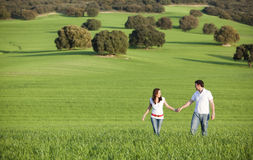 Couple in meadow Stock Image