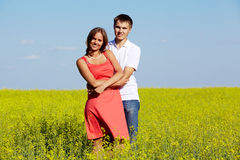 Couple in meadow Royalty Free Stock Photo