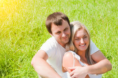 Couple on the meadow Royalty Free Stock Photos