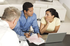 Couple In Meeting With Advisor royalty free stock images