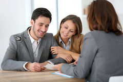 Couple meeting advisor at office Royalty Free Stock Image