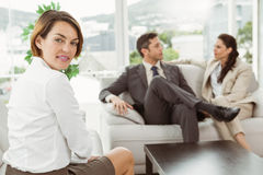 Couple in meeting with financial adviser at home Stock Photography