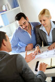 Business meeting for construction Royalty Free Stock Photography