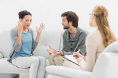 Couple in meeting with a relationship counselor Royalty Free Stock Image