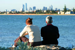 Couple in Melbourne royalty free stock image