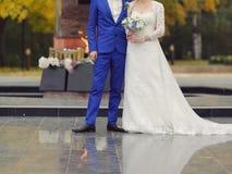 Couple at Memorial Stock Photo
