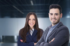 Couple of men and women. Of business executives and professions Stock Image