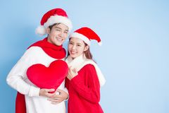 Couple with merry christmas Royalty Free Stock Images