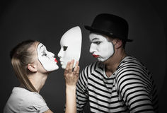 Couple of mimes stock photos