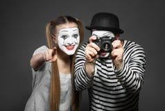 Couple of mimes Stock Photos