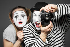 Couple of mimes Stock Image