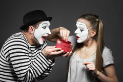 Couple of mimes Royalty Free Stock Photos