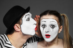 Couple of mimes royalty free stock images