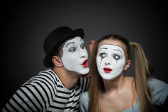 Couple of mimes Stock Images