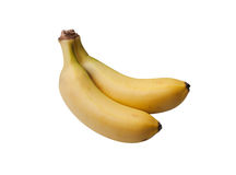 Couple of mini bananas Stock Photos