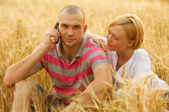 Couple with a mobile phone Stock Photo