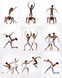 Couple of modern ballet dancers Royalty Free Stock Image