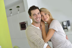 Couple in modern kitchen Royalty Free Stock Photo