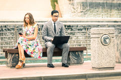 Couple in moment of disinterest  - Break up concept Royalty Free Stock Image