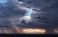 Couple of Monsoon Storms Stock Photography