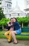 Couple on Montmarte Stock Photo