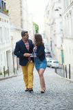 Couple on Montmartre Royalty Free Stock Photo