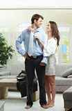 Couple in the morning Royalty Free Stock Photo