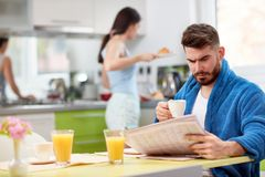 Morning in kitchen royalty free stock image