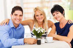 Couple and mother Stock Photography