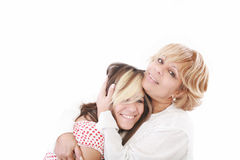 Couple mother and teenage Stock Photos