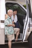 Couple in motor home Royalty Free Stock Images