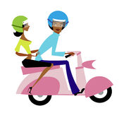 Couple on motorcycle Royalty Free Stock Photo