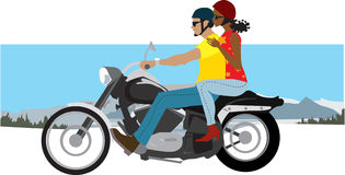 Couple on motorcycle Stock Images