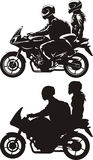 Couple on motorcycle Stock Photo