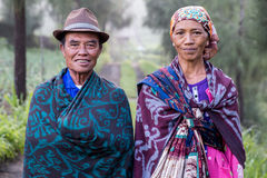 Couple at Mount Bromo - Indonesia Royalty Free Stock Photo