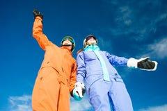 A couple on mountain vacation. Dolomiti Superski, Stock Image