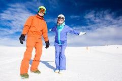 A couple on mountain vacation. Dolomiti Superski, Stock Photos