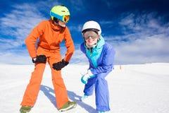 A couple on mountain vacation. Dolomiti Superski, Royalty Free Stock Image