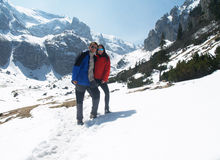 Couple in mountains Stock Photos