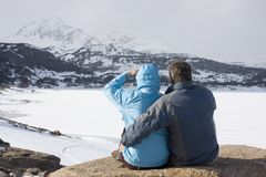 Couple in the mountains Royalty Free Stock Photography