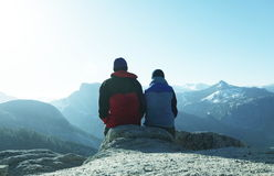Couple in mountains Royalty Free Stock Photography