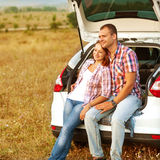Couple in the mountains Stock Photography