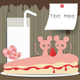 Couple mouse paper background Stock Image