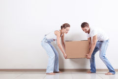 The couple moved Stock Photography