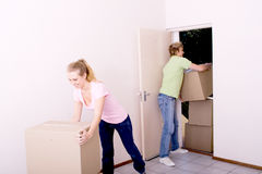 Couple moving in Stock Photos
