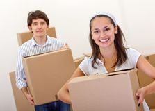 Couple moving Stock Images
